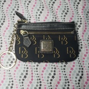 Dooney & Bourke Signature Coin Key Pouch Wallet